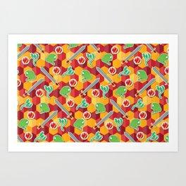 Geeky Neville Longbottom Pattern Art Print