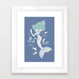 Mermaid Selfie Framed Art Print