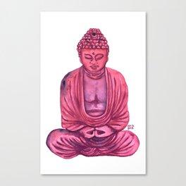Pink Buda Canvas Print