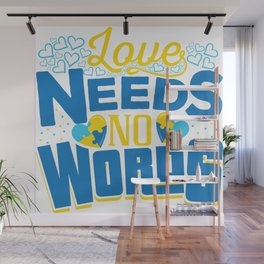 Down Syndrom Awareness Support Trisomy Puzzle Gift Wall Mural