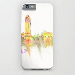 Colorful Stanford California Skyline - University iPhone Case