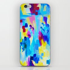 DONT QUOTE ME, Revisited - Bold Colorful Blue Pink Abstract Acrylic Painting Gift Art Home Decor  iPhone & iPod Skin