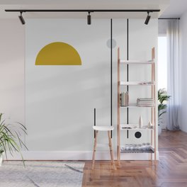 SPACCE 05// Geometric Pastel Minimalist Illustration by Wall Mural