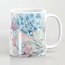 Pretty Pastel Succulents Garden 2 Coffee Mug