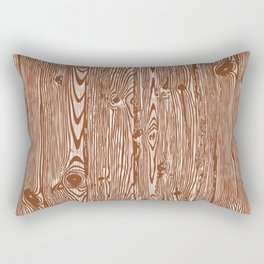 c13D Woodgrain Rectangular Pillow