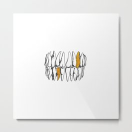 teeth Metal Print