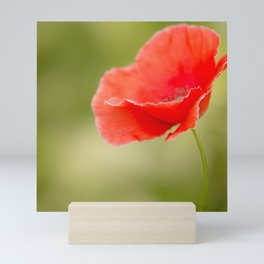 Miss you so much Red Poppy #decor #society6 Mini Art Print