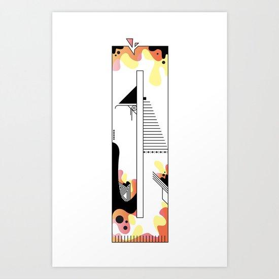 0 typo Art Print