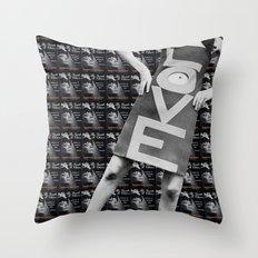 LOVE + CHAOS Throw Pillow