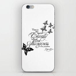 'Strange Skullerflies' -  Quotes - Edgar Allan Poe iPhone Skin