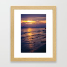 Sunset along the Gulf Coast Framed Art Print