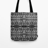 moto Tote Bags featuring Moto Mania by Robbie Kaye