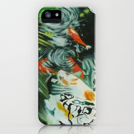 Carp and lilies iPhone Case