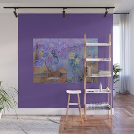 MAGIC VIOLIN Ultraviolet pastel composition inspired by music and farytale Wall Mural