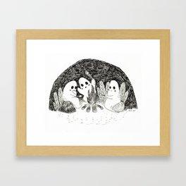 Marshmallows Ghosts Framed Art Print