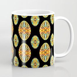 Vintage Easter Egg Pattern Hungarian Design Style Ornament Coffee Mug