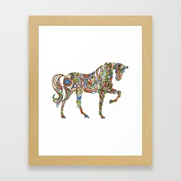 Abstract Horse Art Picture Framed Art Print