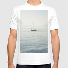 Sailboat White MEDIUM Mens Fitted Tee