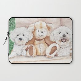 Two Bichons and A Friend Laptop Sleeve