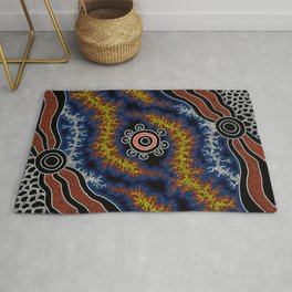The Heart of Fire - Authentic Aboriginal Art Rug