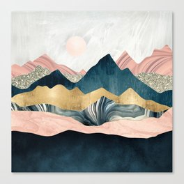 Plush Peaks Canvas Print