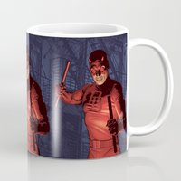 daredevil Mugs featuring Daredevil by Arne AKA Ratscape