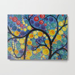 Medieval Tree of Life Metal Print