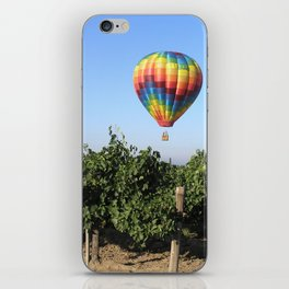 Floating in Wine Country iPhone Skin