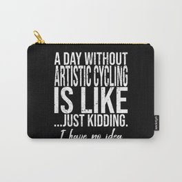 Artistic Cycling funny gift idea Carry-All Pouch