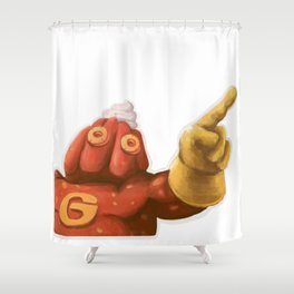 Gelatin Man Shower Curtain