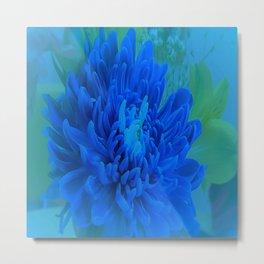 Soft blue flower Metal Print
