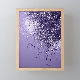 ULTRA VIOLET Glitter Dream #1 #shiny #decor #art #society6 Framed Mini Art Print