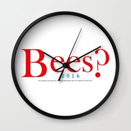 Bees? Presidential Campaign Jeb/Gob Wall Clock