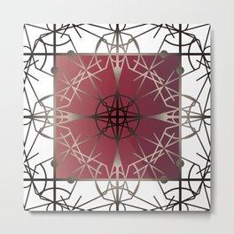 Gothic Fretwork Metal Print