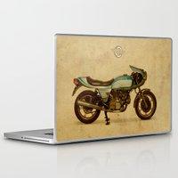 ducati Laptop & iPad Skins featuring Ducati 900SS Darmah 1979 by Larsson Stevensem