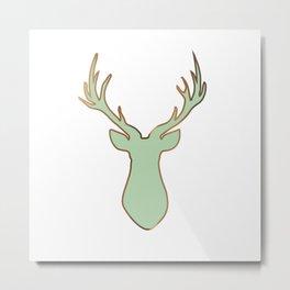 Stag Design Mint Metal Print