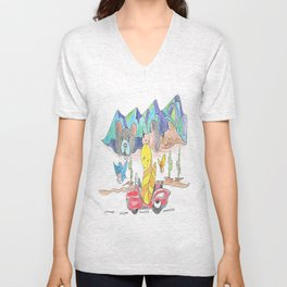 """Dream Vacation"" Unisex V-Neck"