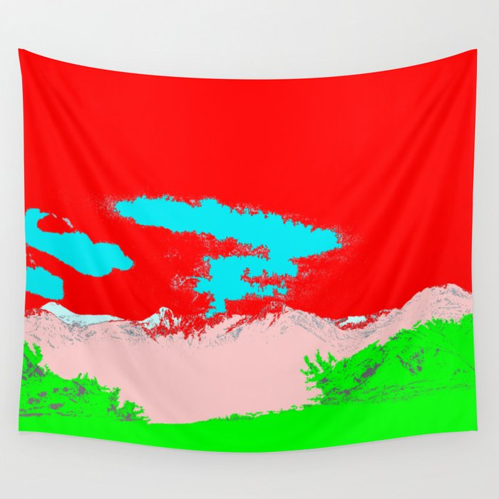 Ice Cream Mountain Wall Tapestry