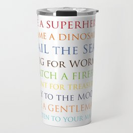 Be A Superhero, rainbow multi-color palette Travel Mug