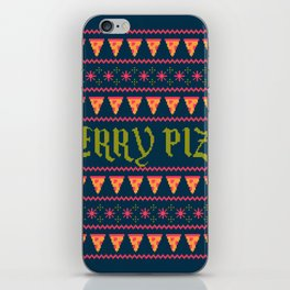 Merry Pizza iPhone Skin
