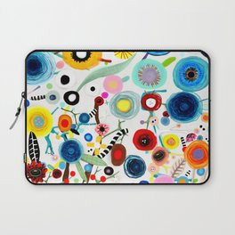 Rupydetequila whimsical floral art 2018 Laptop Sleeve