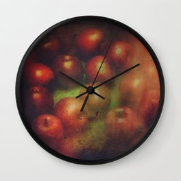 Once Upon a Time a Red Apple Wall Clock