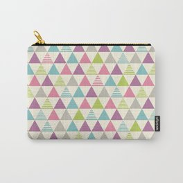Colorful triangle pattern. Carry-All Pouch