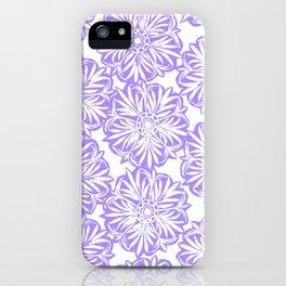 Carved Starburst Lavender iPhone Case