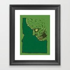 Idaho zombie Framed Art Print