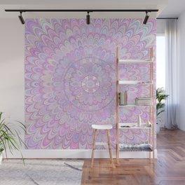 Summer Feather Flower Mandala Wall Mural