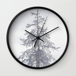 Yellowstone National Park - Ice Covered Tree Wall Clock