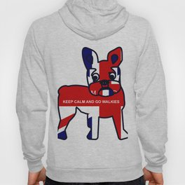 French Bulldog Keep Calm and Go Walkies Hoody