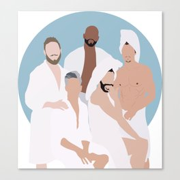 Five Fab Men in a Tub Canvas Print