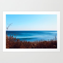 Vibrant beautiful coast of sea of Japan . Ocean horizon. Nautical background Art Print